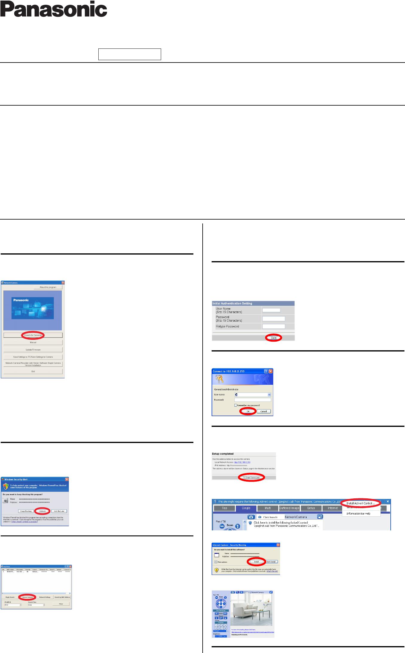 Handleiding Panasonic Bb Hcm580 Indoor Network Camera Pagina 1 Van Ptz Wiring Diagram