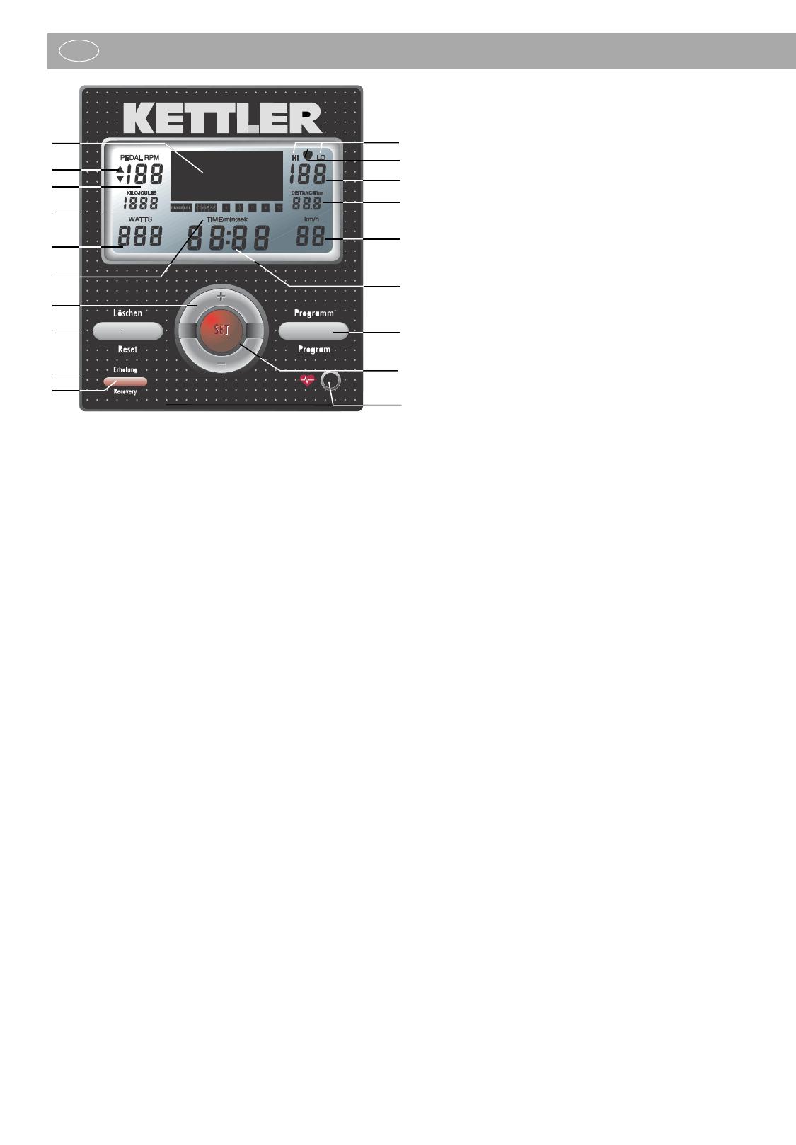 Handleiding Kettler Ergometer CX 1 7987-500 (pagina 14 van 34 ...