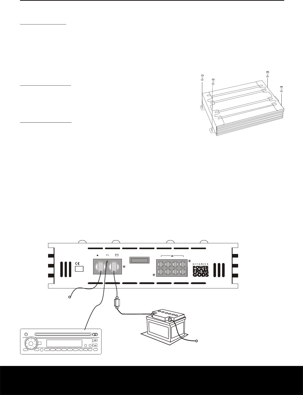 Handleiding Hifonics Zxi 4400 Pagina 18 Van 24 Deutsch English Wiring Diagram Installationshinweise