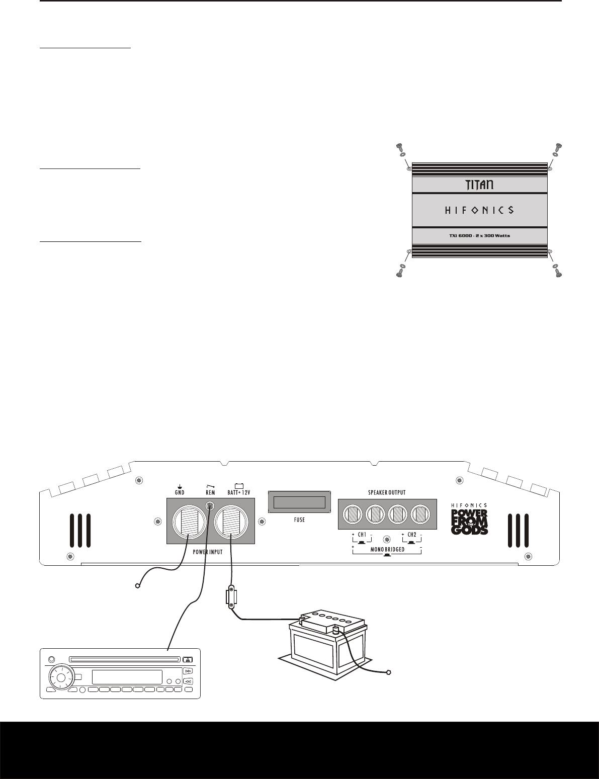 Handleiding Hifonics Txi 6000 Pagina 20 Van 24 Deutsch English Wiring Diagram Installationshinweise