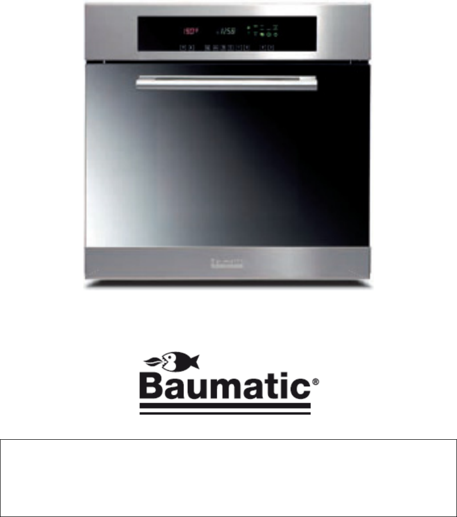 handleiding baumatic p 460 ss pagina 2 van 32 english rh gebruikershandleiding com Oven Baumatic B180s-B baumatic oven owner's manual
