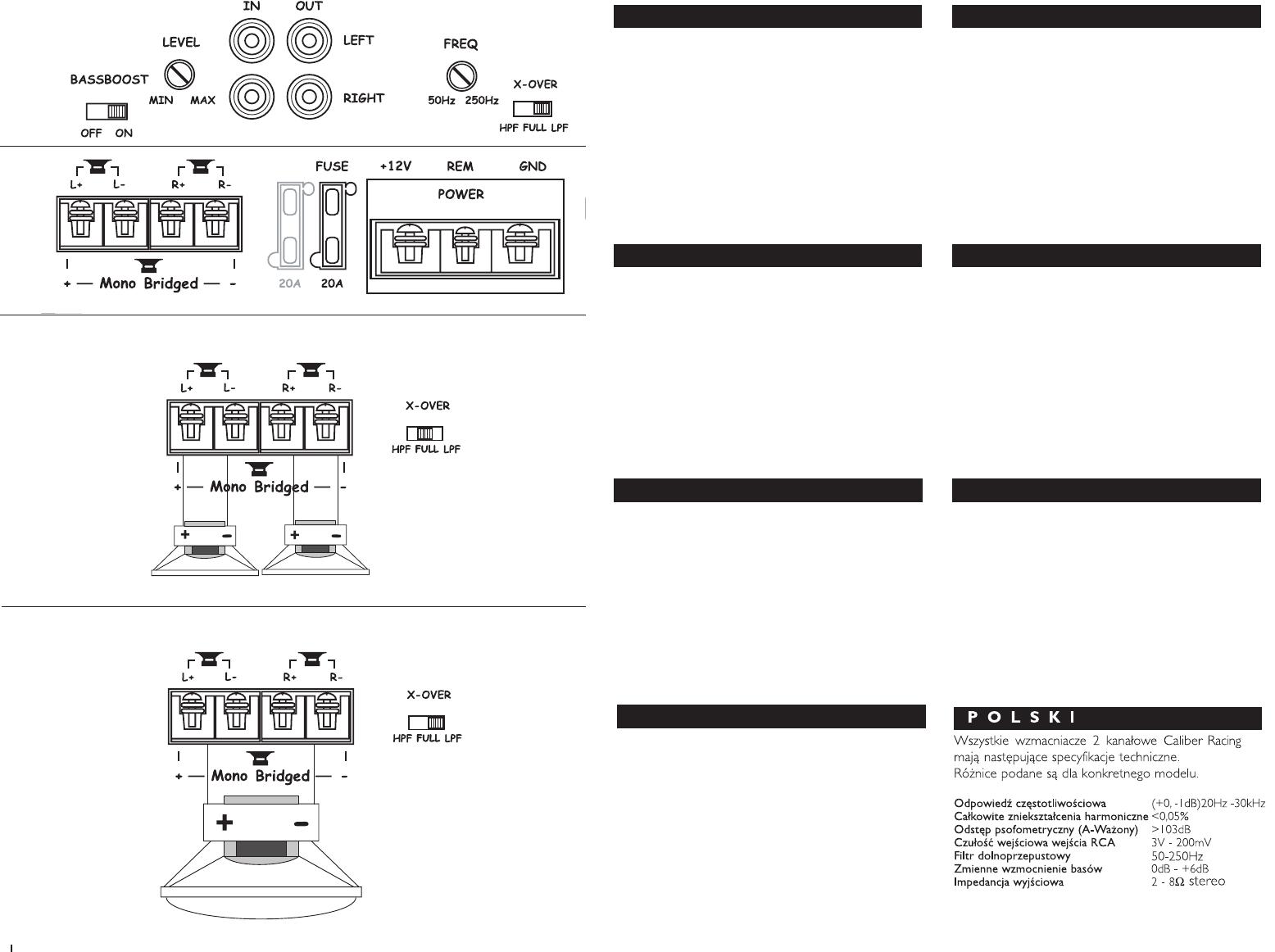 Handleiding Caliber ca 502 (pagina 1 van 12) (Deutsch, English ...