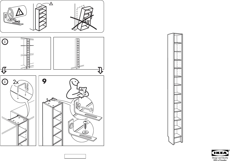 Handleiding Ikea Benno Cd Rek Pagina 1 Van 4 Dansk