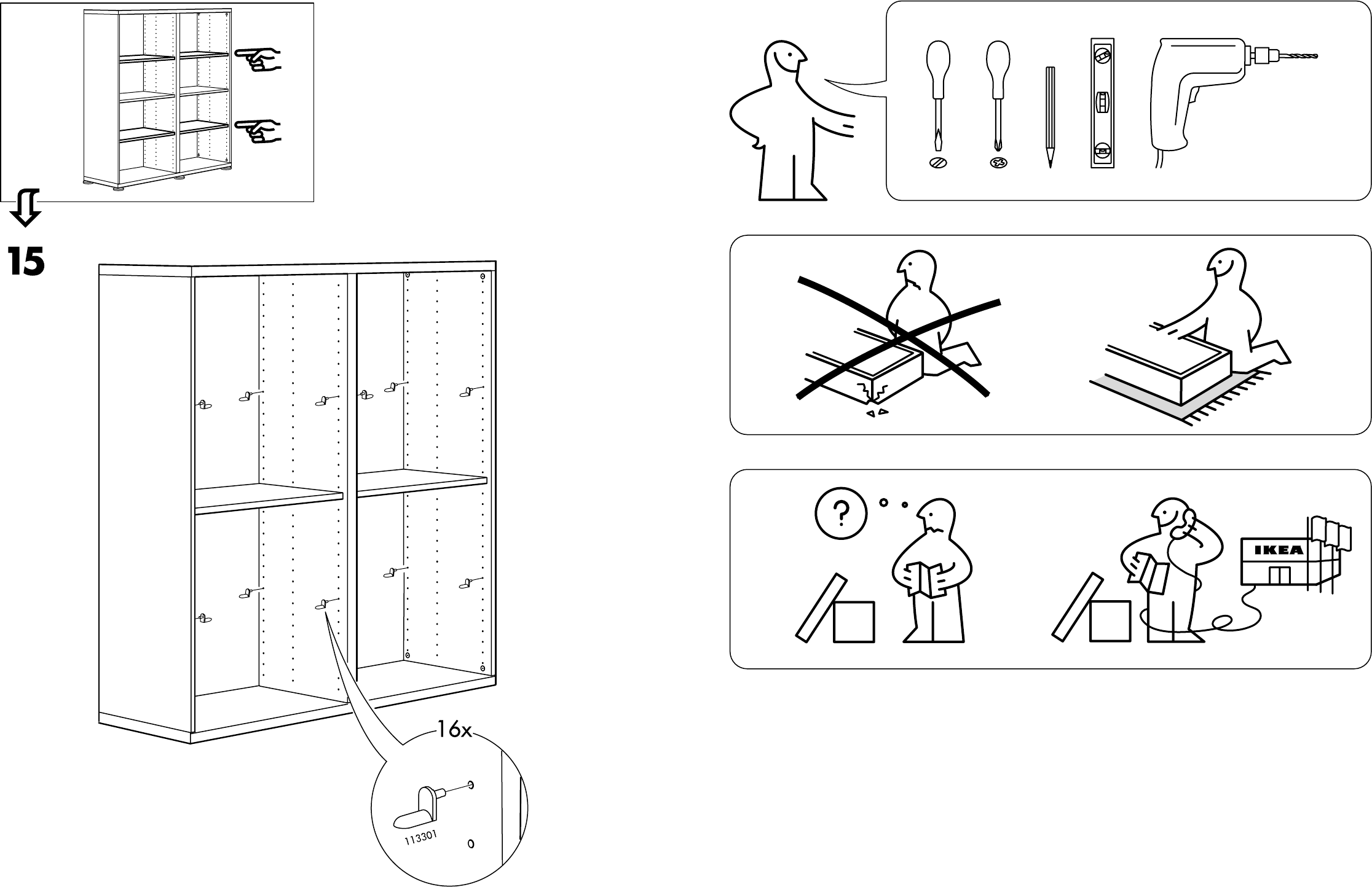 Handleiding Ikea Besta Kast Pagina 5 Van 10 Dansk