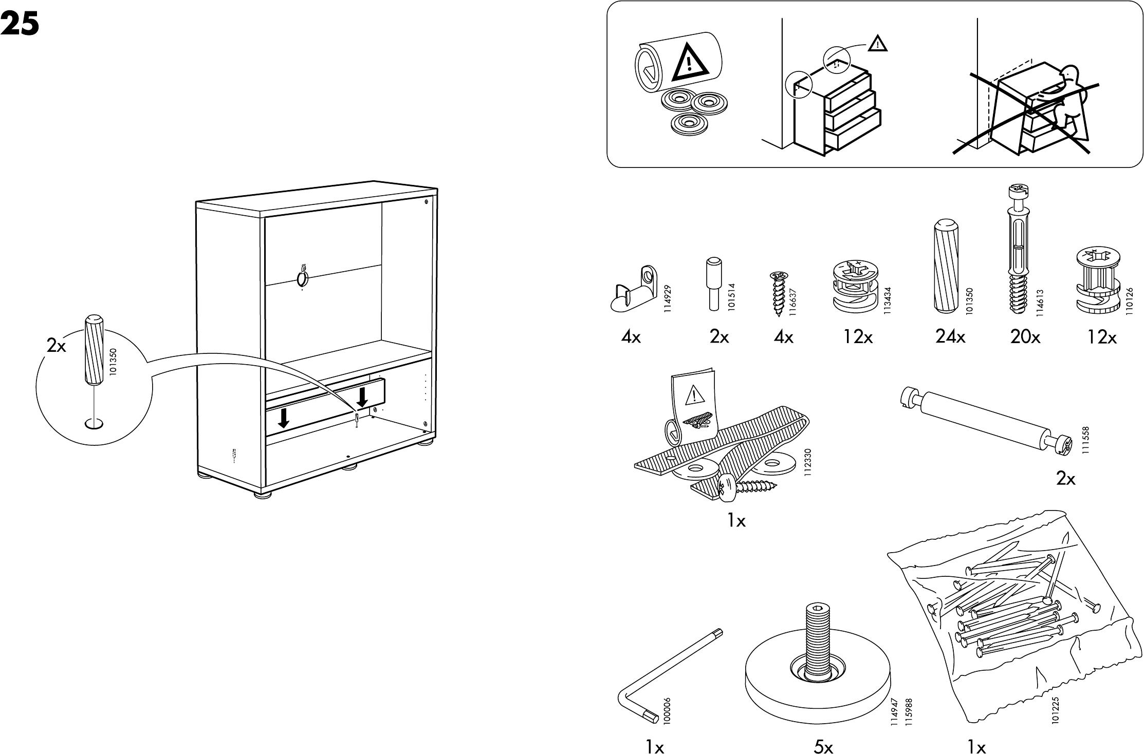 Handleiding Ikea Besta Enon Tv Kast Pagina 3 Van 10 Dansk