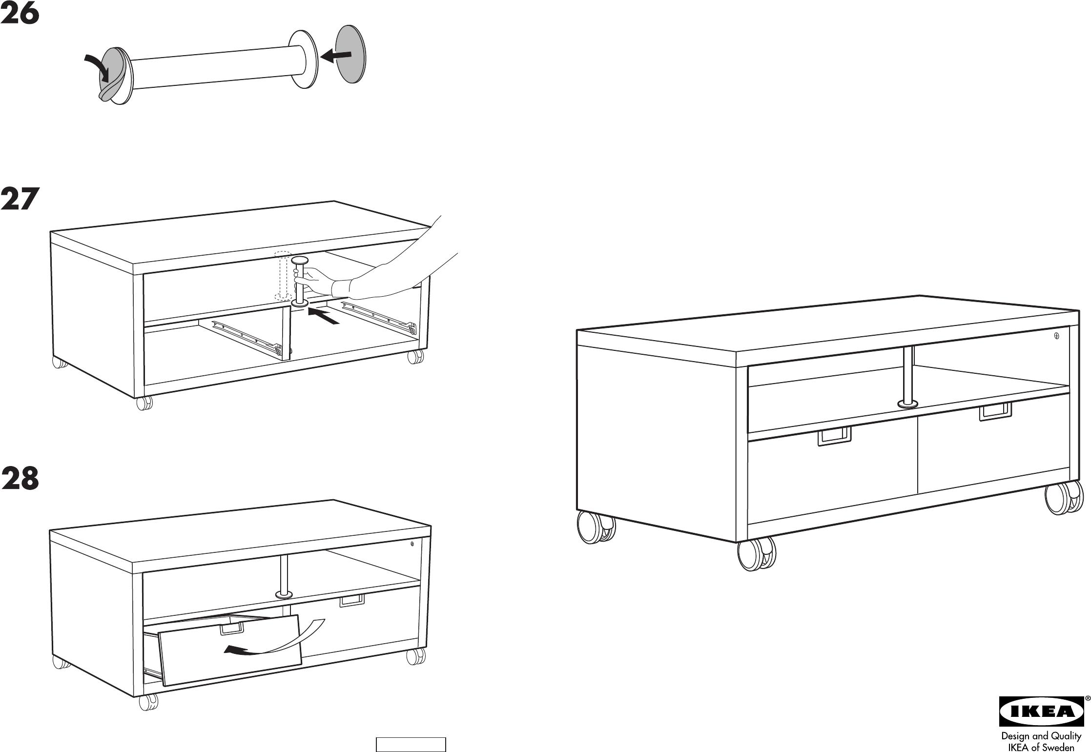 Handleiding Ikea Besta Jagra Tv Meubel Pagina 1 Van 8