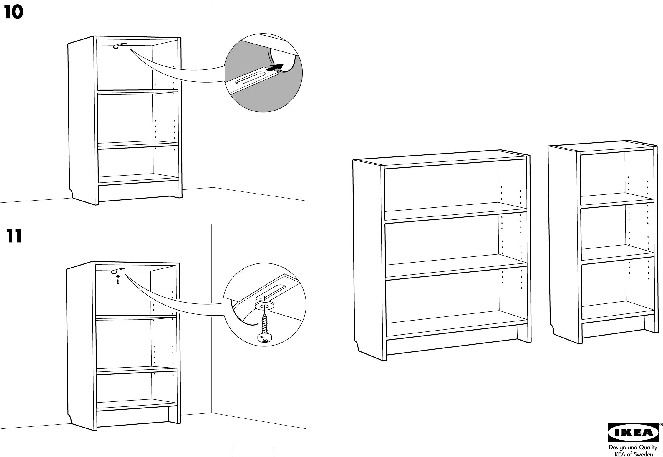Handleiding Ikea Billy boekenkast (pagina 1 van 4) (Dansk, Deutsch, English, Espan u00f4l, Fran u00e7ais