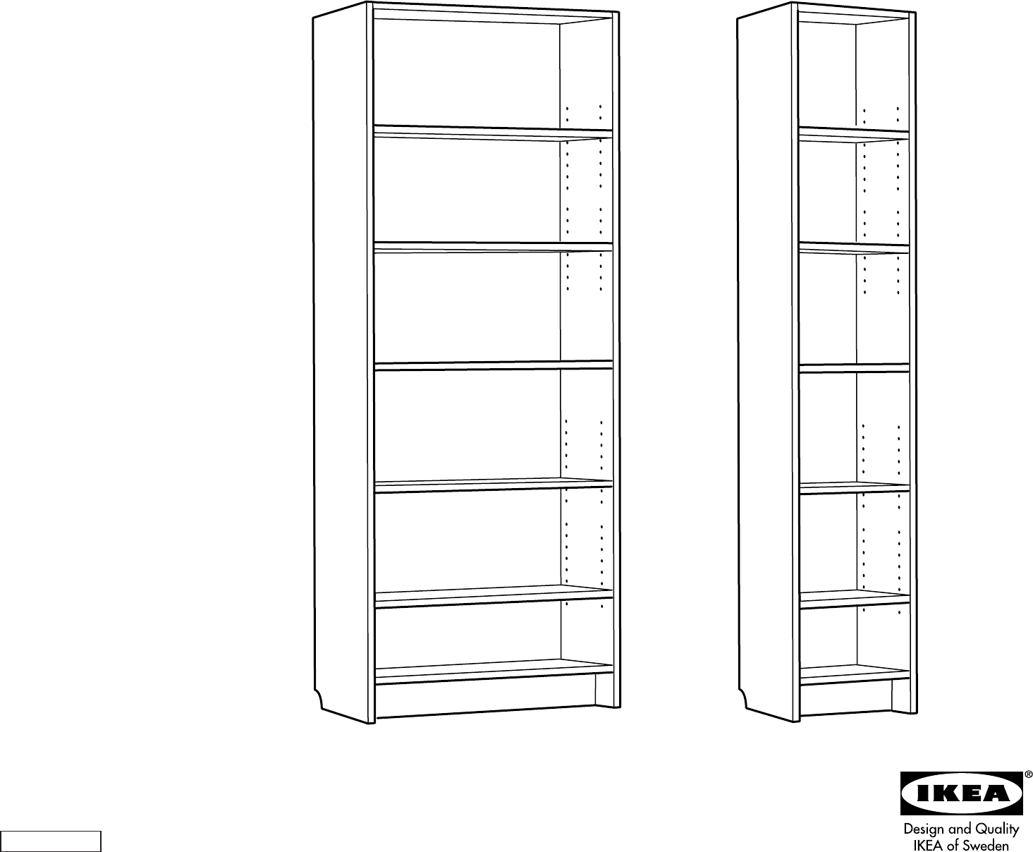 Handleiding Ikea Billy boekenkast 2 (pagina 1 van 8) (Dansk, Deutsch ...