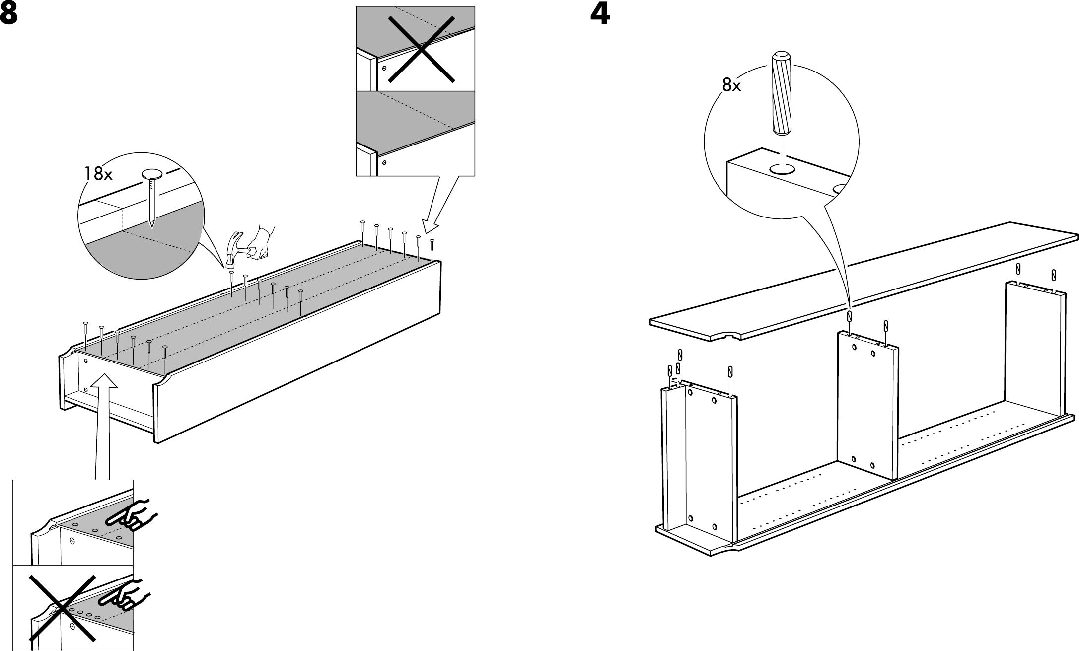 Handleiding Ikea Billy boekenkast 2 (pagina 8 van 8) (Dansk, Deutsch ...