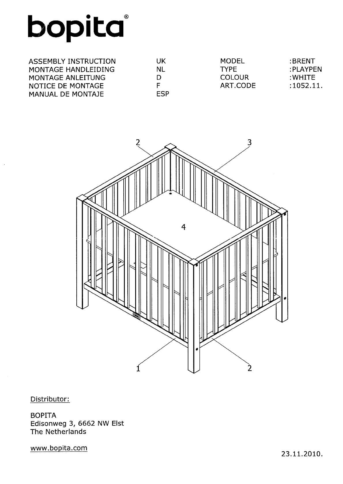 Handleiding Bopita Box Brent Pagina 1 Van 3 Nederlands
