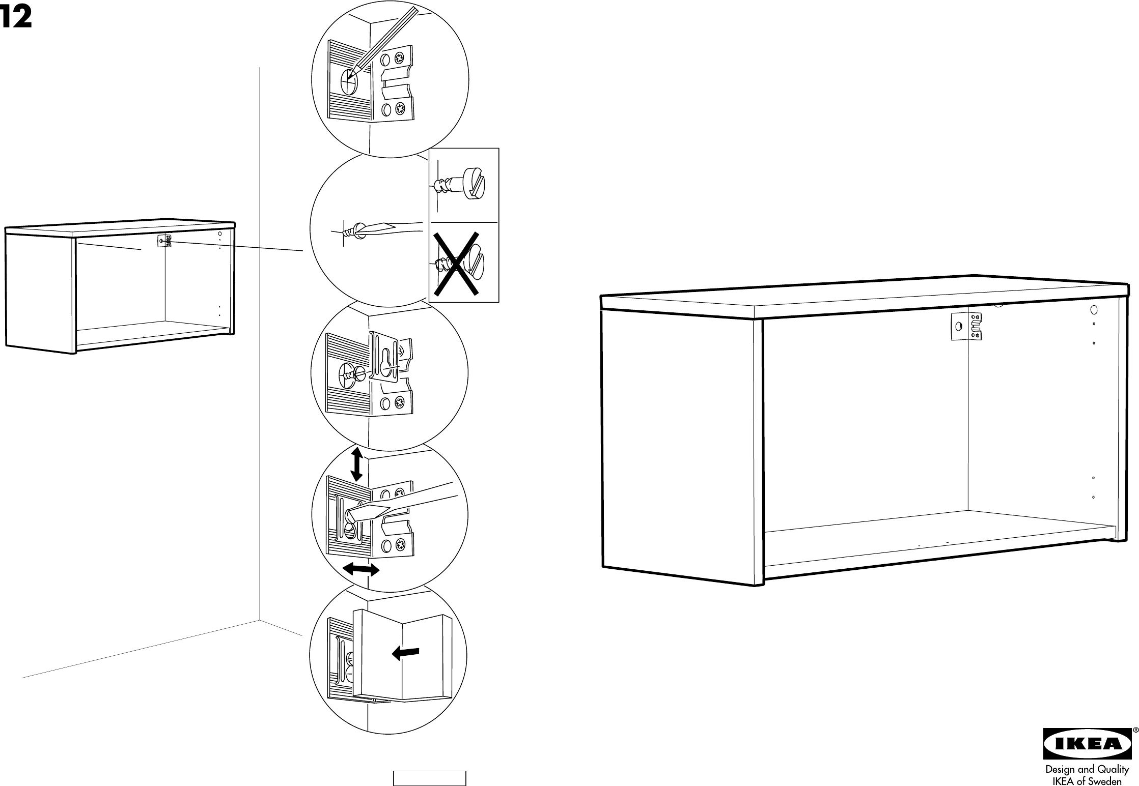 Verwonderlijk Handleiding Ikea Effektiv wandkast (pagina 1 van 6) (Dansk NU-22
