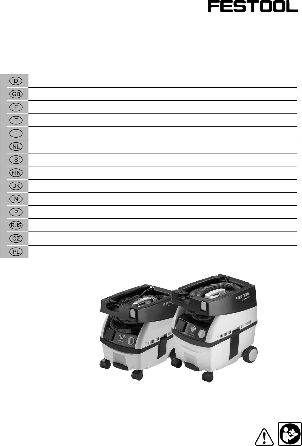 Wonderlijk Handleiding Festool CTL Midi Mobiele zuiger (pagina 1 van 54 LU-06