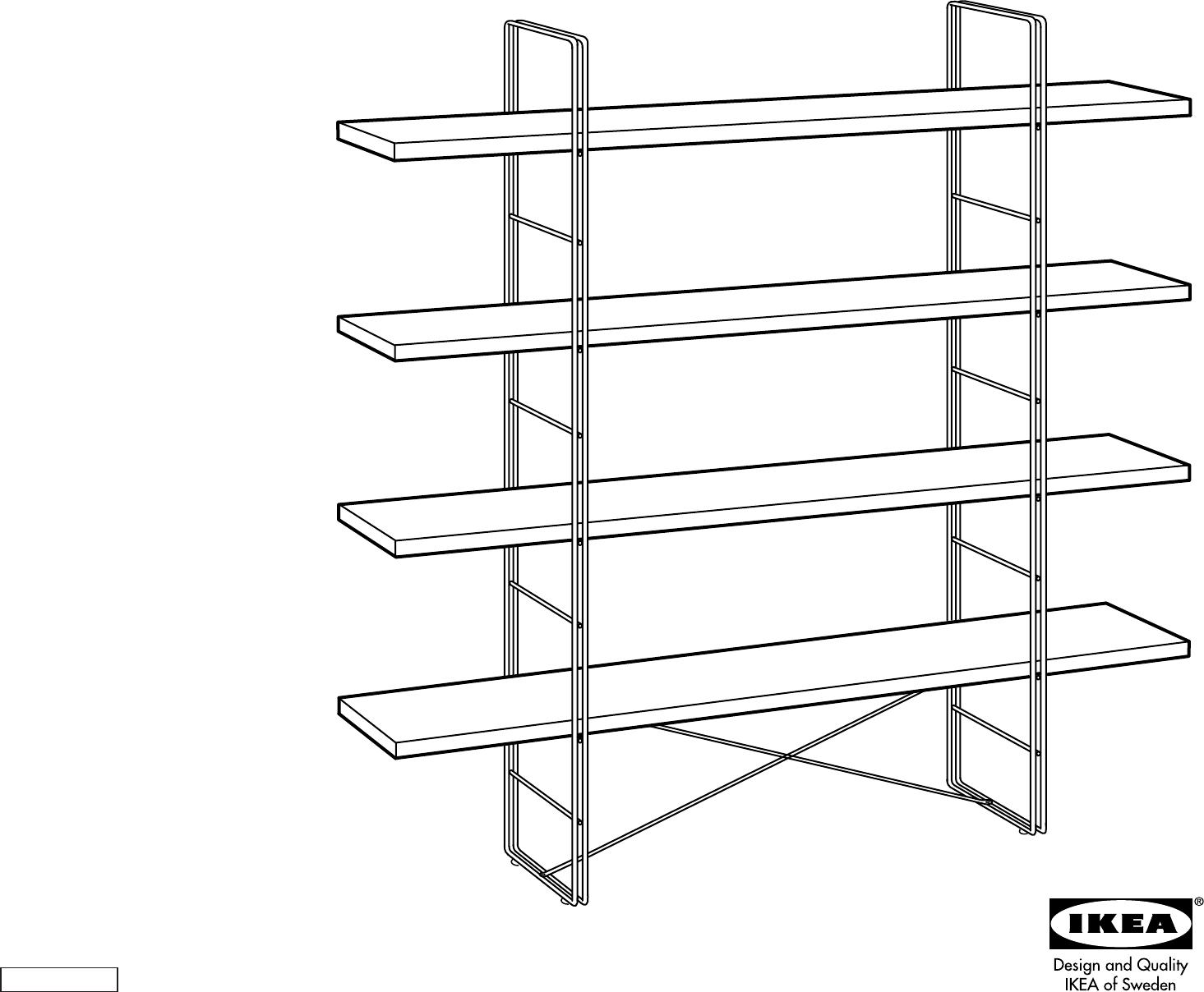 Handleiding Ikea Enetri Open Kast Pagina 1 Van 4 Dansk