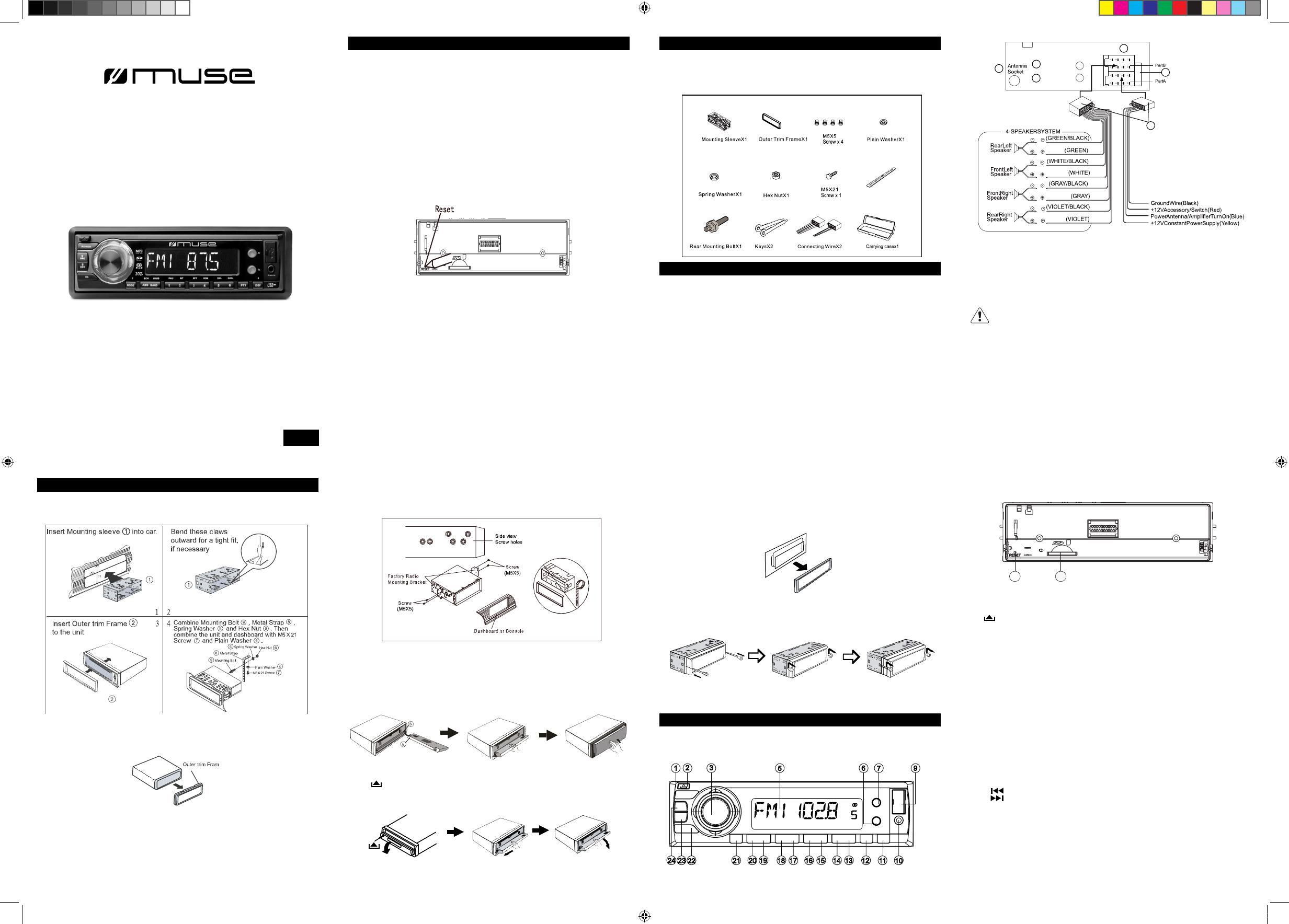 Handleiding Muse M 092 Pagina 2 Van English Wiring Diagram
