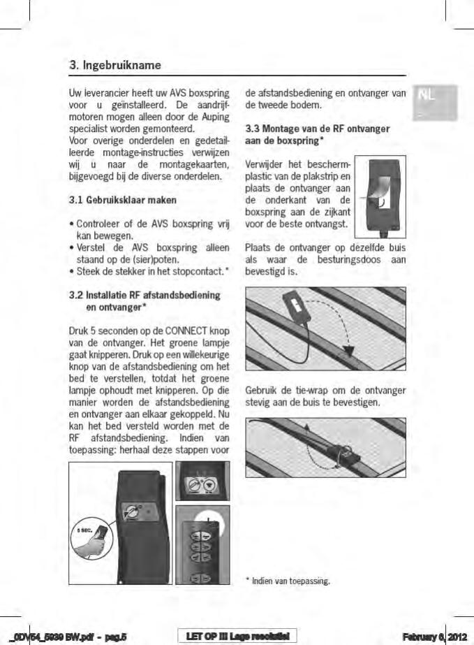 Auping Boxspring Boxton.Handleiding Auping Avs Boxspring Boxton Pagina 7 Van 102 Dansk