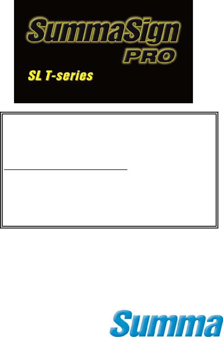 Handleiding Summa SummaSign Pro SL T-series (pagina 22 van