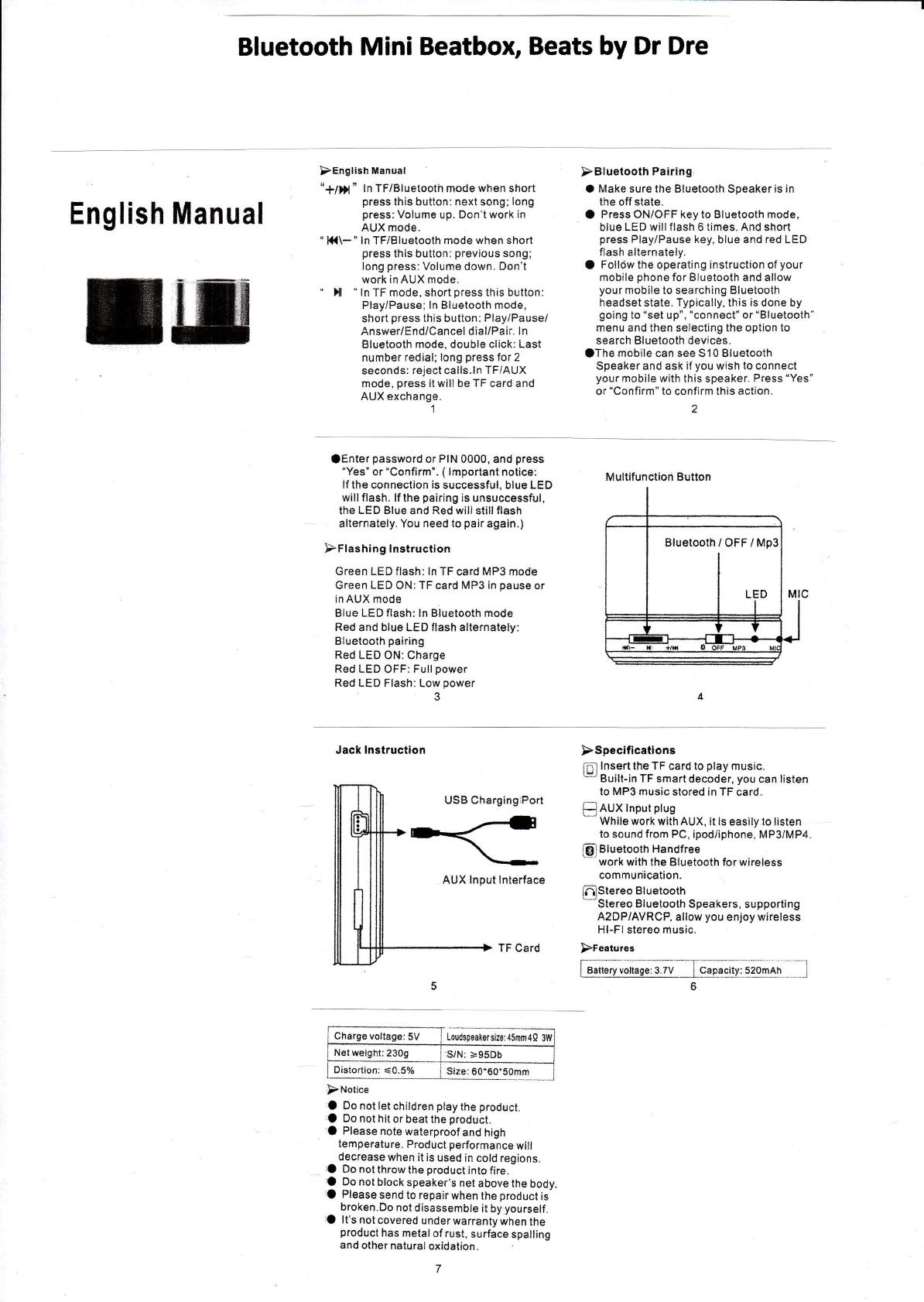 mental beats bluetooth speaker manual