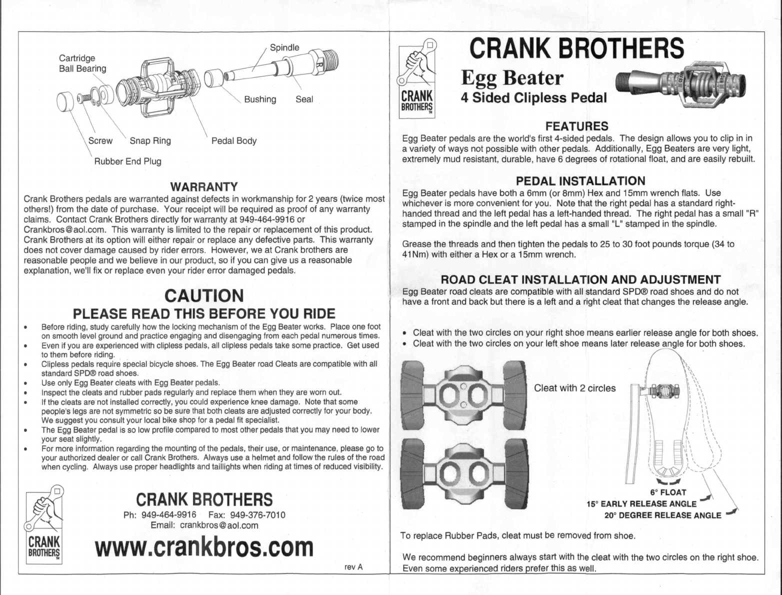 57d2d613a Handleiding Crank Brothers Egg Beater (pagina 2 van 2) (English)