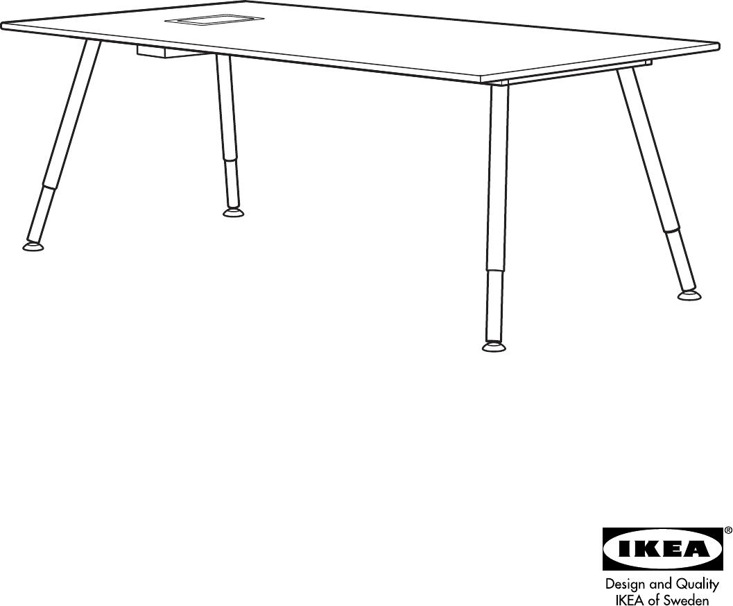 Kleine Computertafel Ikea.Handleiding Ikea Galant Vergadertafel Pagina 1 Van 8 Dansk