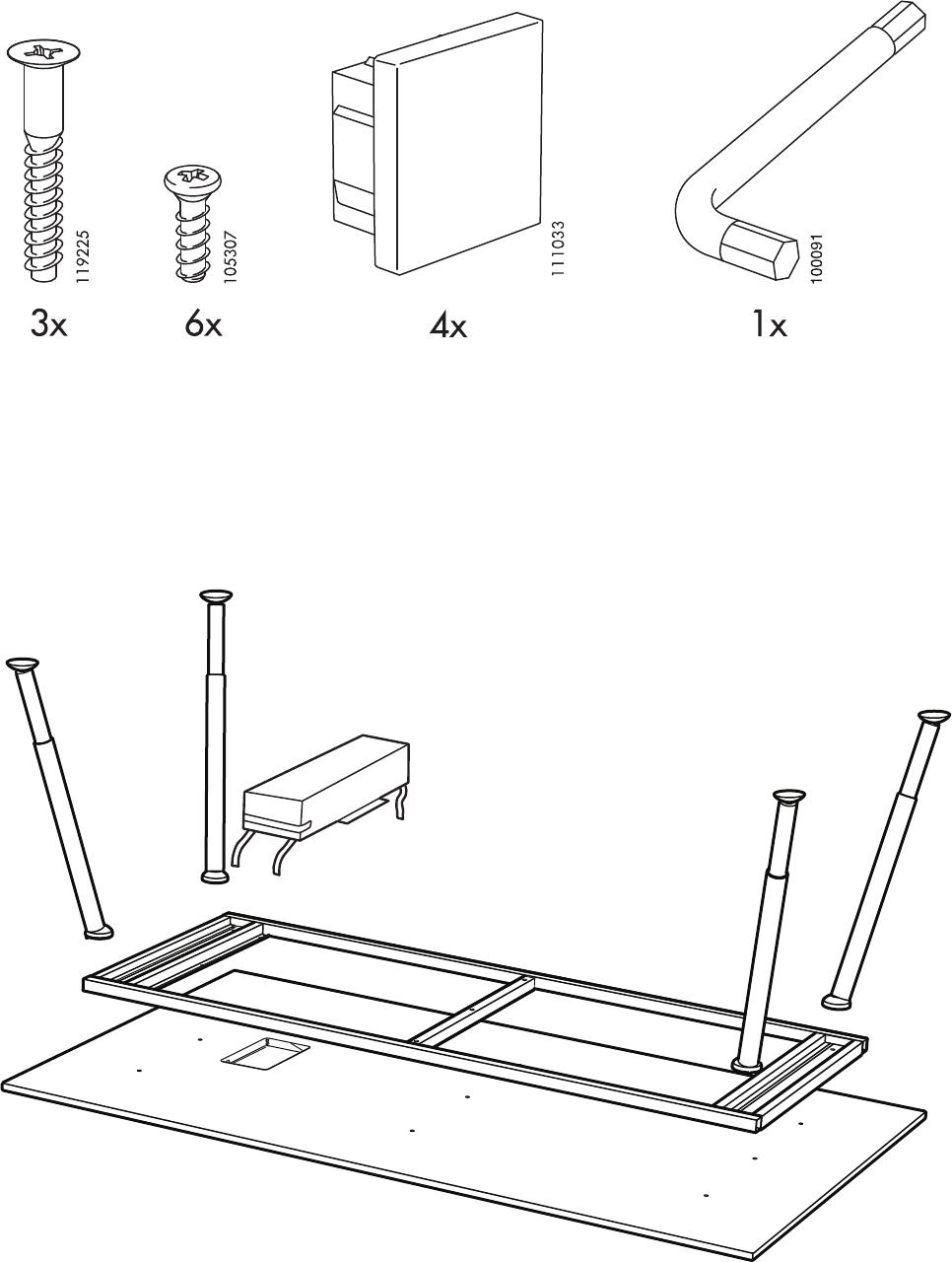 Kleine Computertafel Ikea.Handleiding Ikea Galant Vergadertafel Pagina 3 Van 8 Dansk