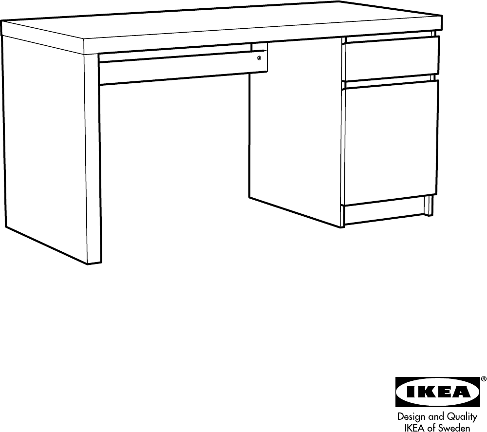 handleiding ikea malm bureau pagina 1 van 32 dansk deutsch english espan l fran ais. Black Bedroom Furniture Sets. Home Design Ideas