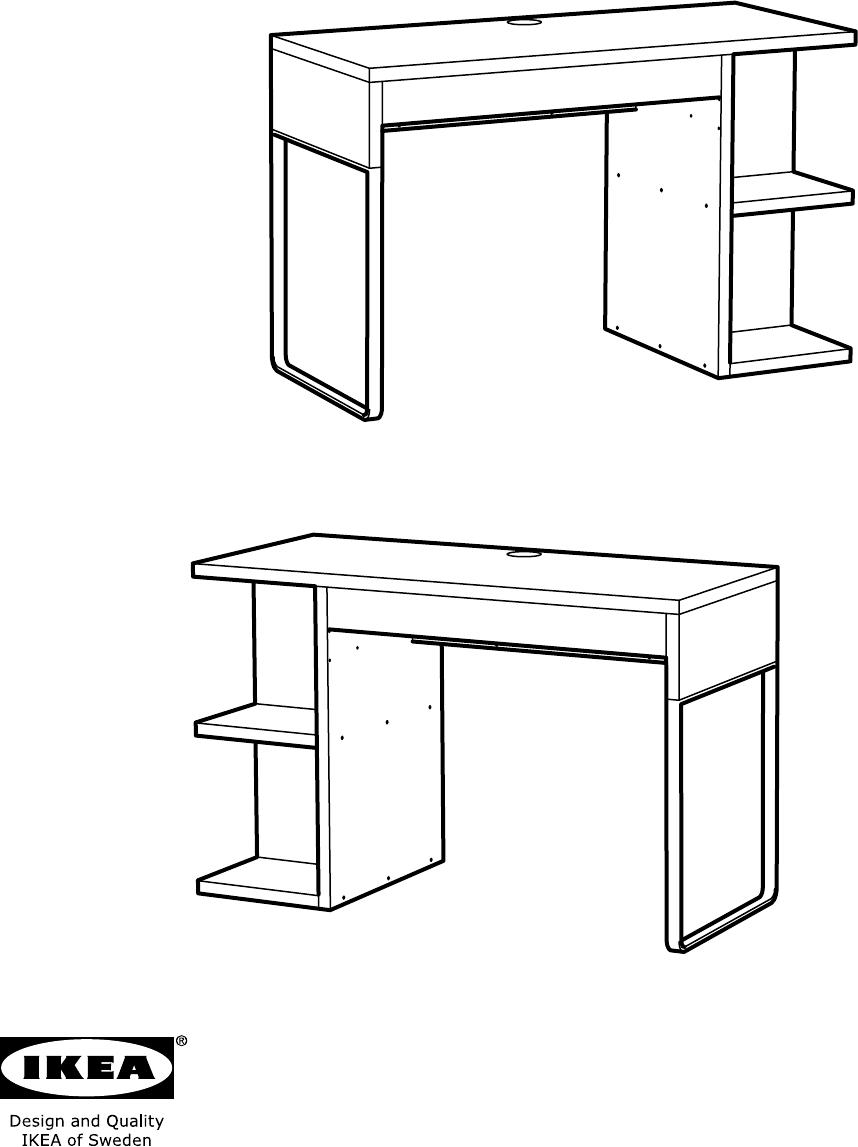 handleiding ikea micke bureau met ingebouwde opberger. Black Bedroom Furniture Sets. Home Design Ideas