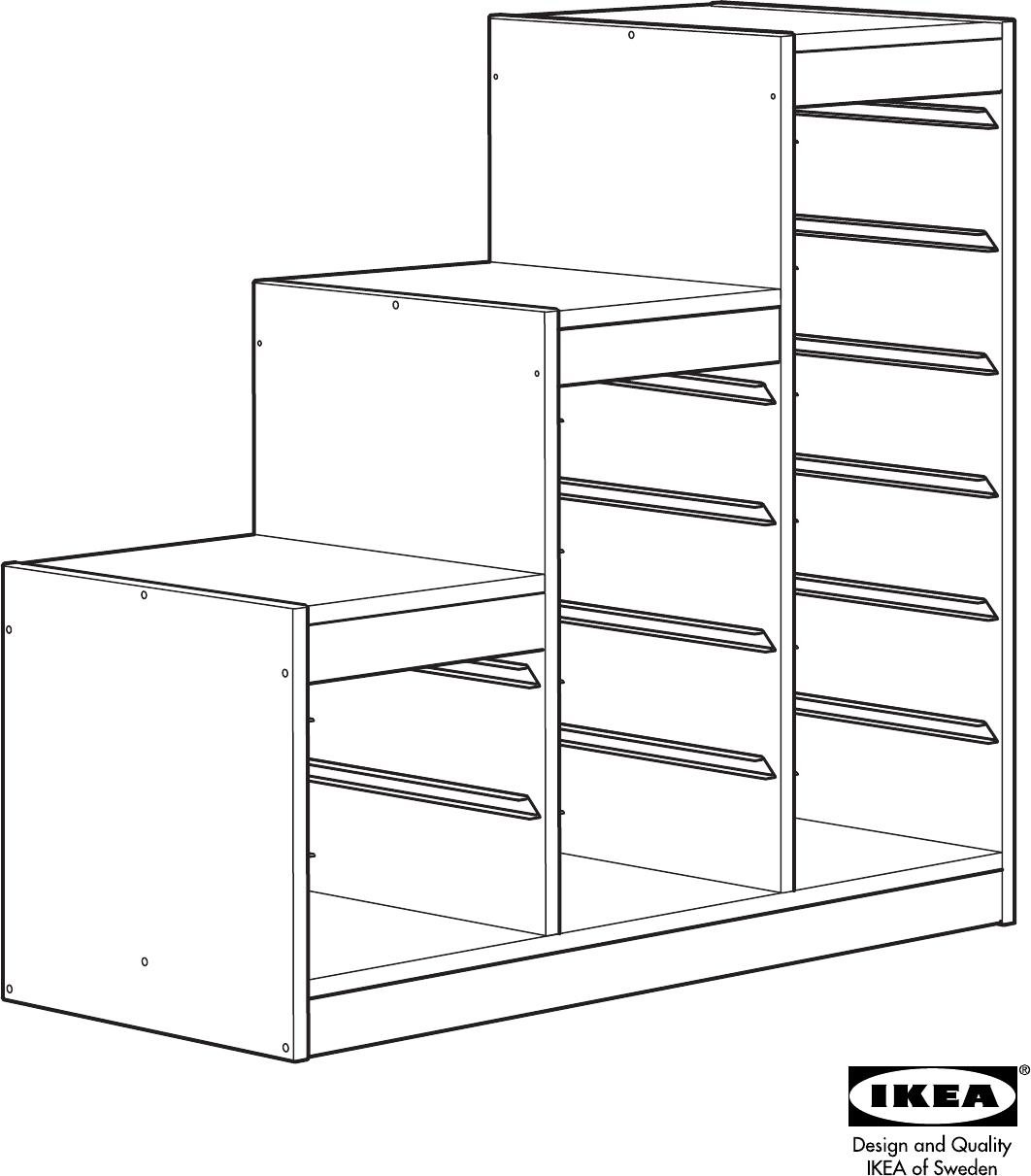 Handleiding Ikea Trofast Basiselement Pagina 1 Van 12