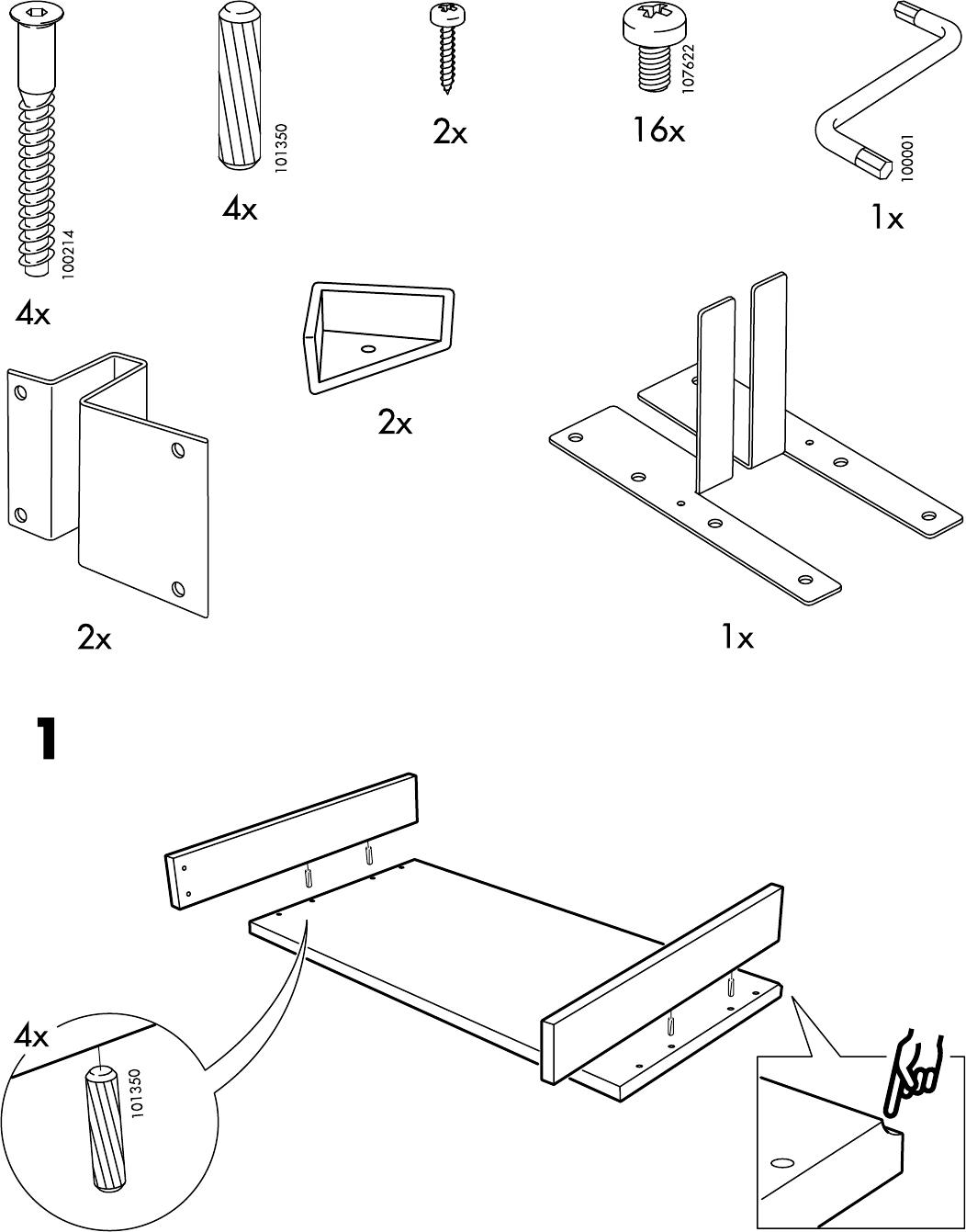 Handleiding Ikea HENSVIK Opzet-Commode (pagina 3 van 8) (Dansk ...