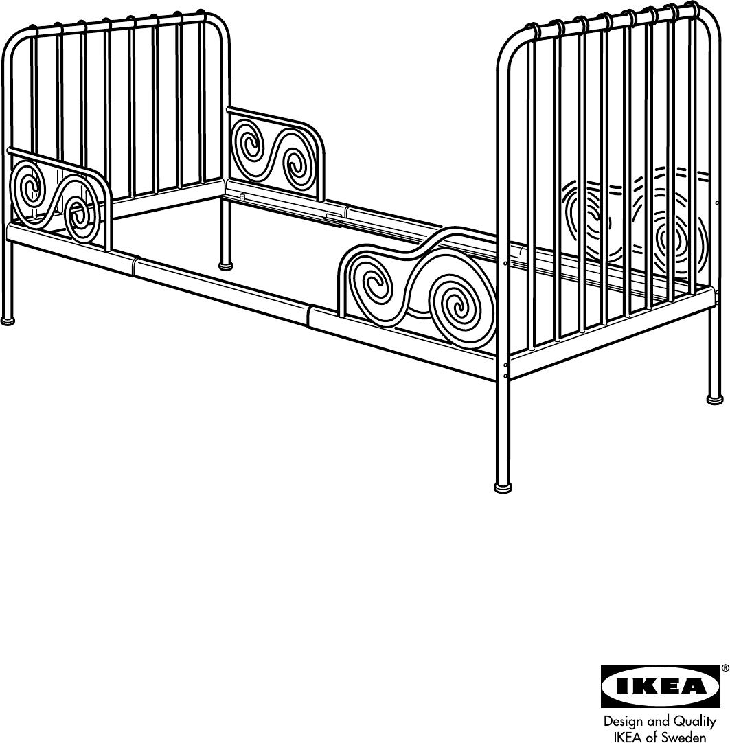 Handleiding Ikea Minnen Meegroeibed Pagina 1 Van 8