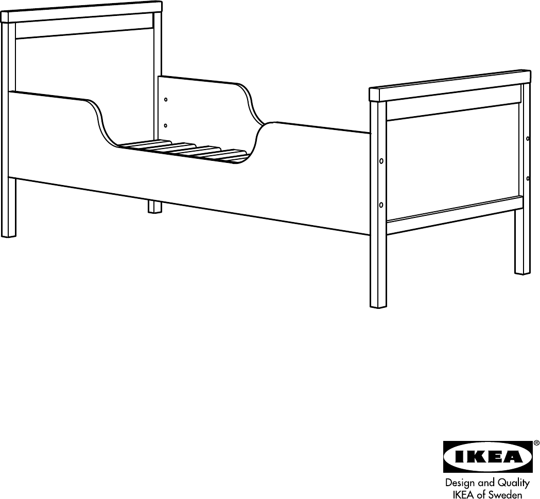 Handleiding Ikea Sundvik Kinderbed Pagina 1 Van 8 Dansk