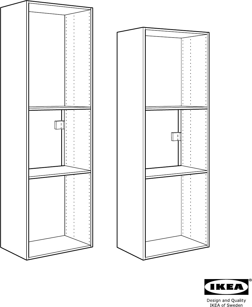 Handleiding Ikea Faktum Hoog Kastelement Koelkast Oven