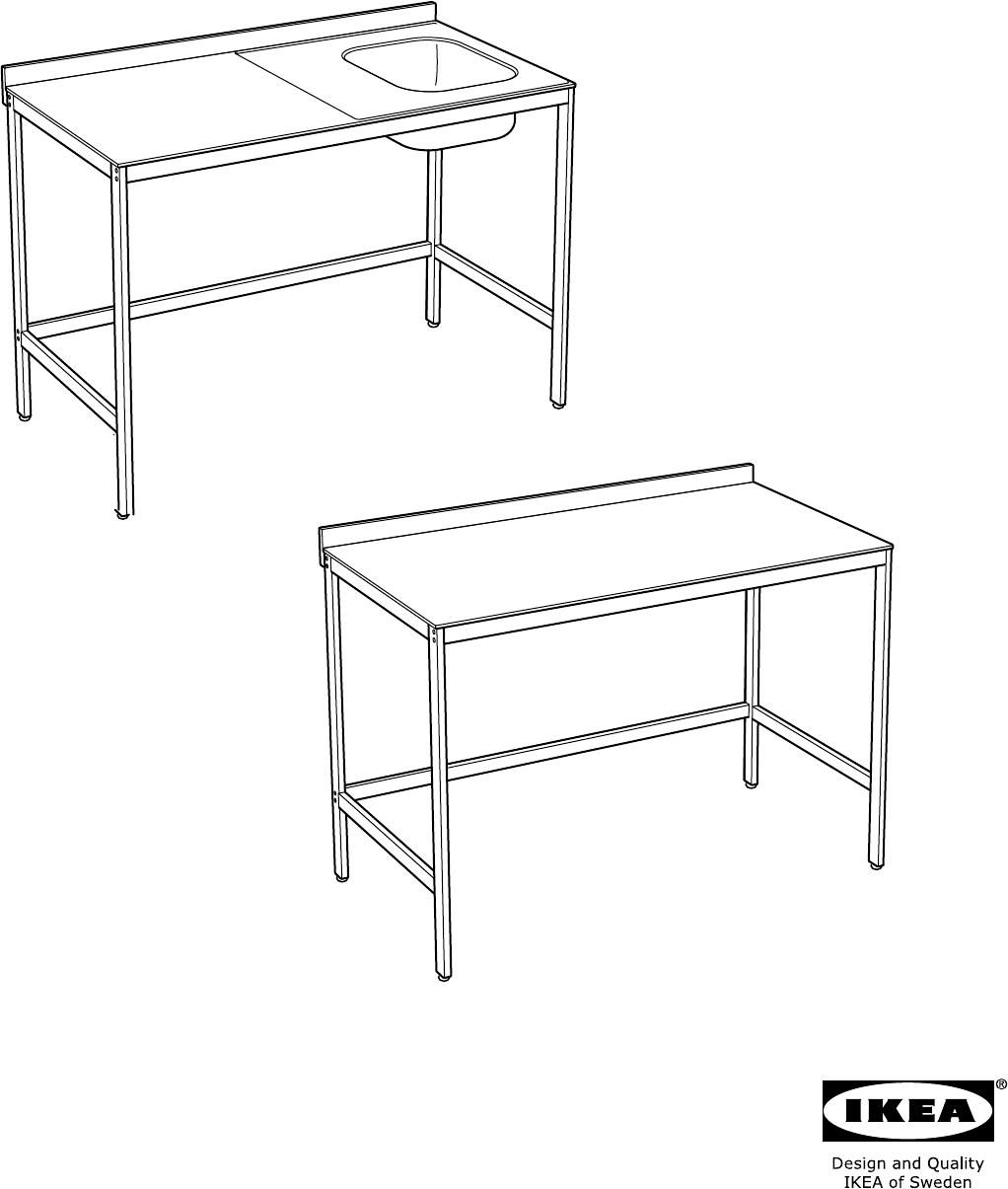 Hoogte Werkbank Keuken : Handleiding Ikea UDDEN Werkbank (pagina 1 van 16) (Dansk, Deutsch