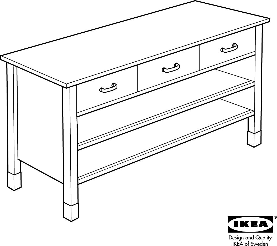 Handleiding Ikea Varde Onderkast 176x90 Pagina 1 Van 16 Dansk