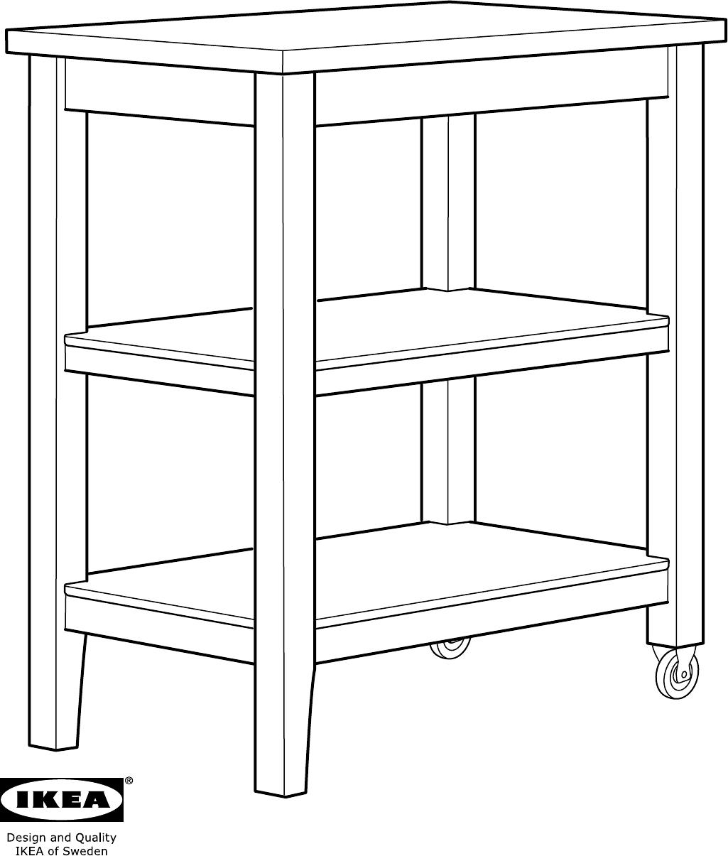 Handleiding Ikea Stenstorp Roltafel Pagina 1 Van 12 Dansk