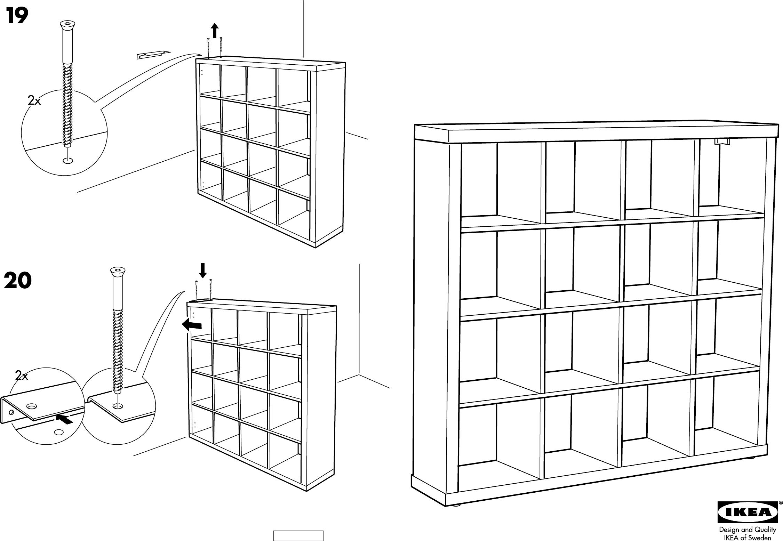 Handleiding Expedit Boekenkast.Handleiding Ikea Expedit Pagina 1 Van 6 Dansk Deutsch English