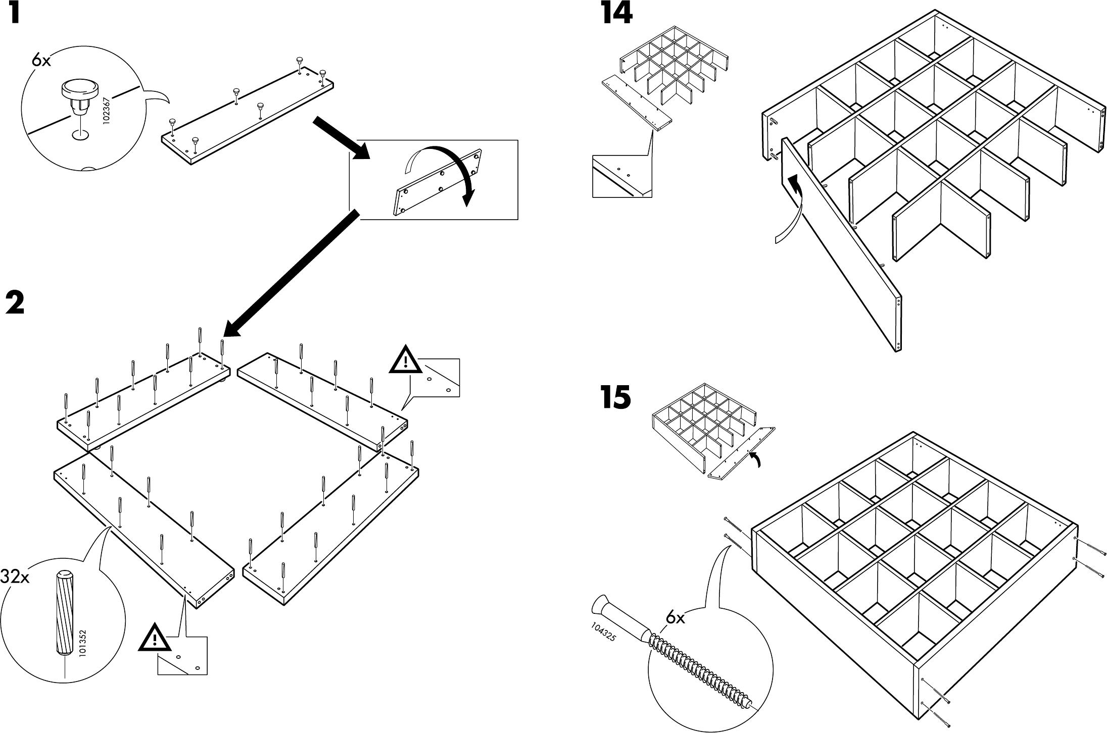Handleiding Expedit Boekenkast.Handleiding Ikea Expedit Pagina 6 Van 6 Dansk Deutsch English