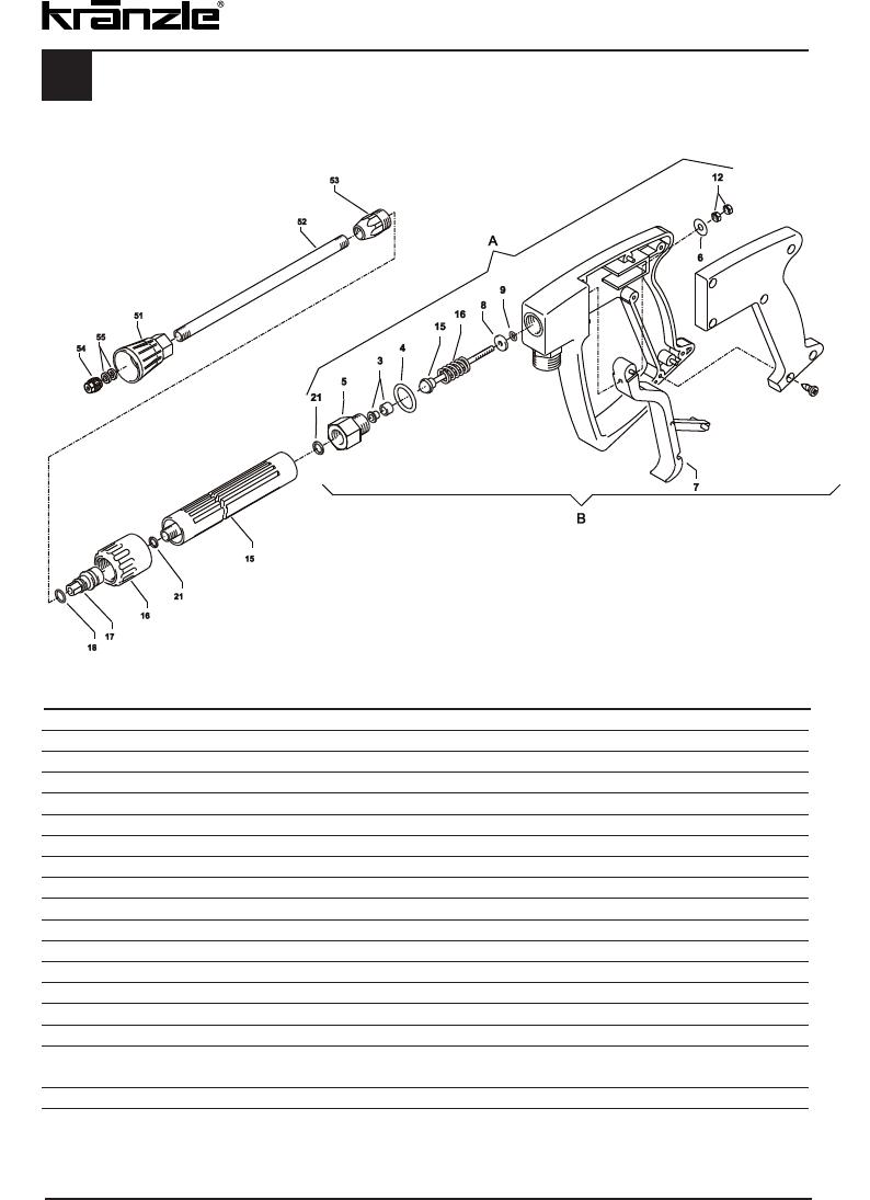 Handleiding Kranzle profi 160 tst (pagina 40 van 44) (Deutsch)