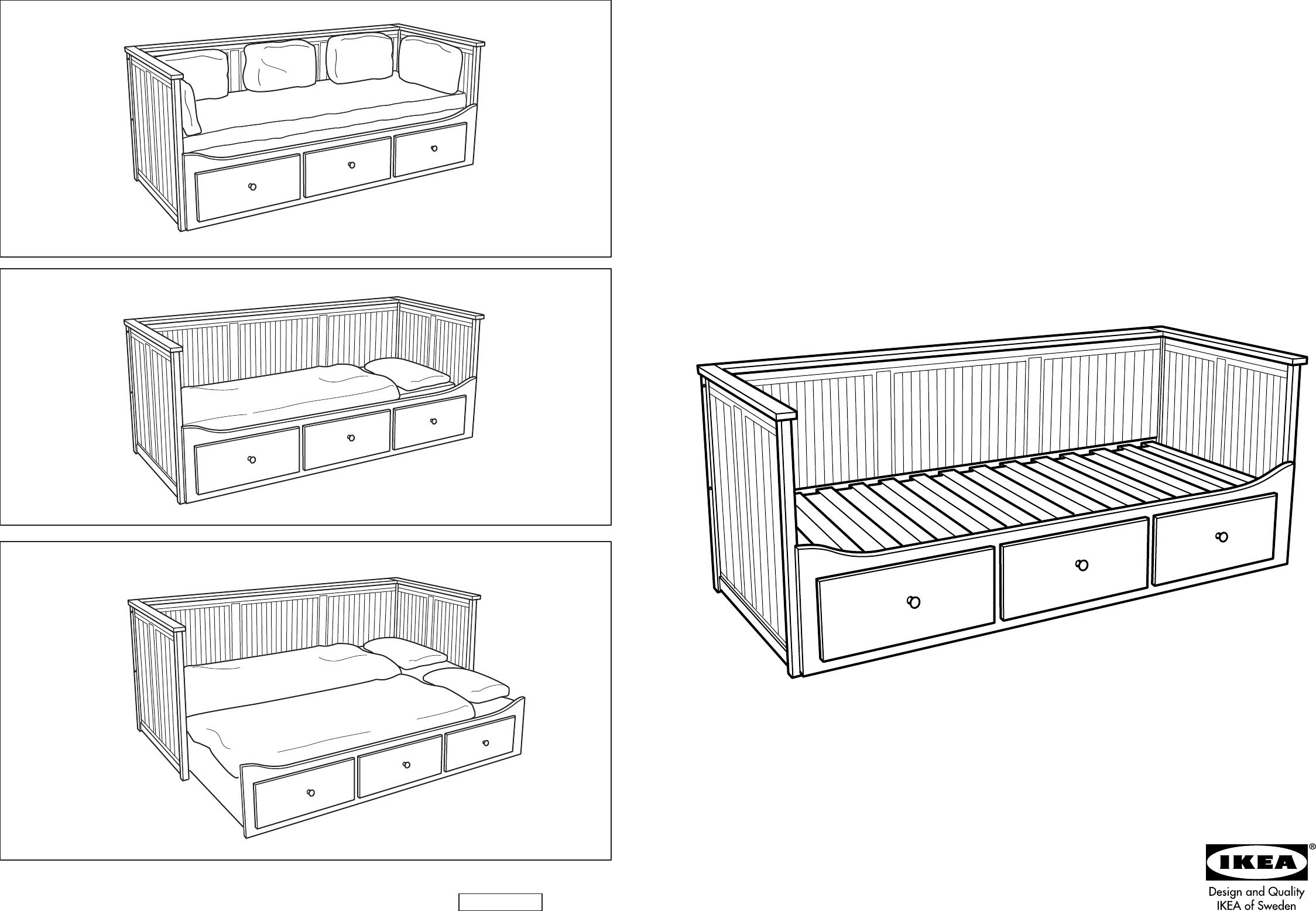 Zetelbed 2 Personen Ikea.Handleiding Ikea Hemnes Bedbank Pagina 1 Van 12 Dansk Deutsch