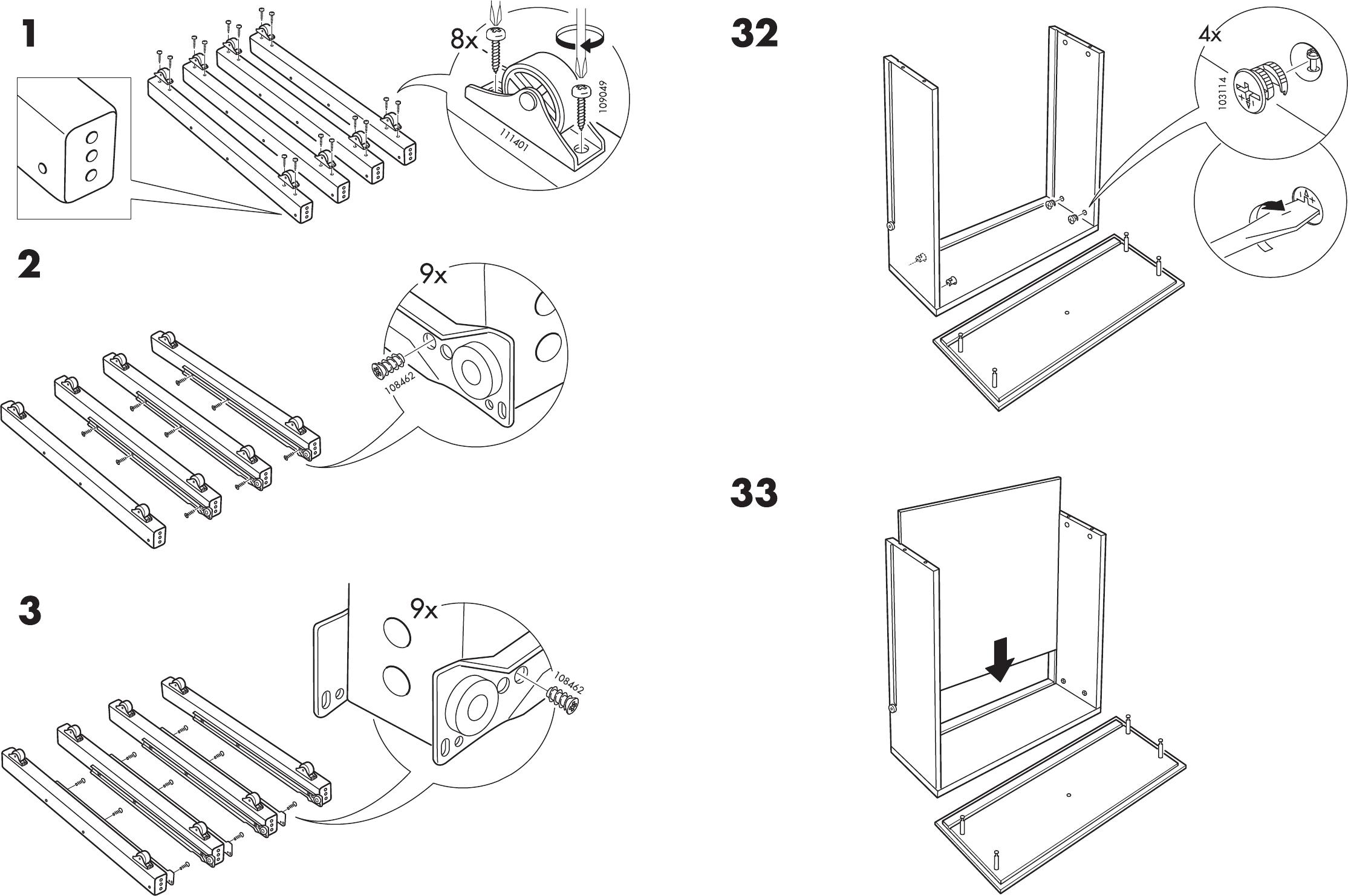 Hemnes Bedbank Met 3 Lades.Handleiding Ikea Hemnes Bedbank Pagina 7 Van 12 Dansk Deutsch