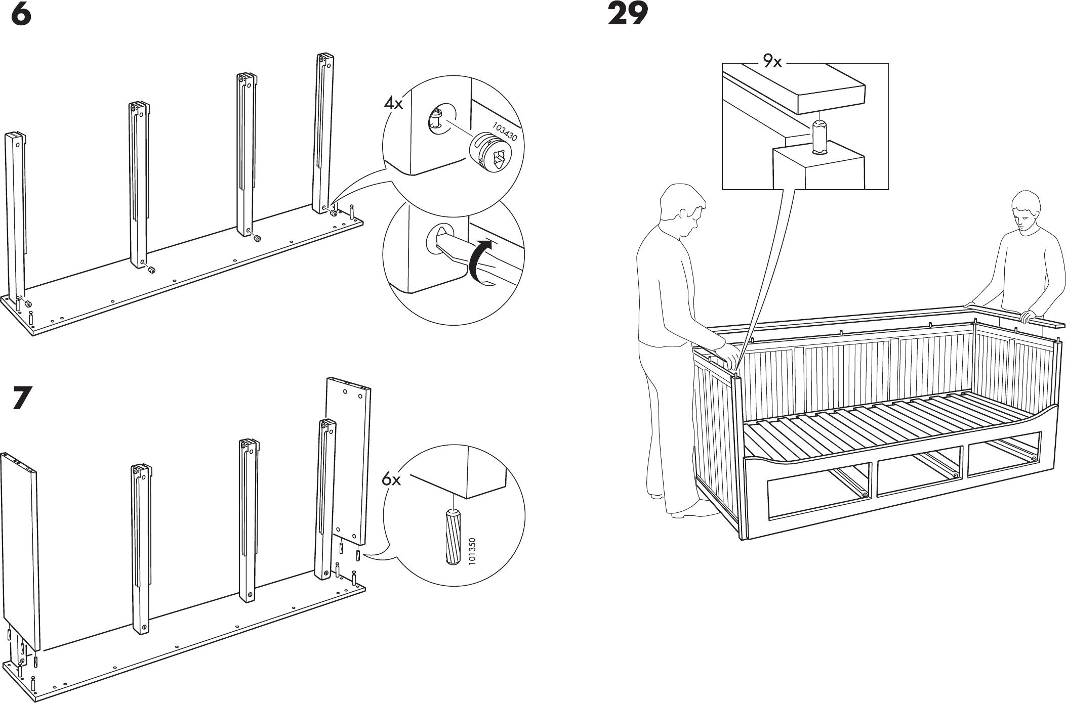 Hemnes Bedbank Ikea.Handleiding Ikea Hemnes Bedbank Pagina 6 Van 12 Dansk Deutsch