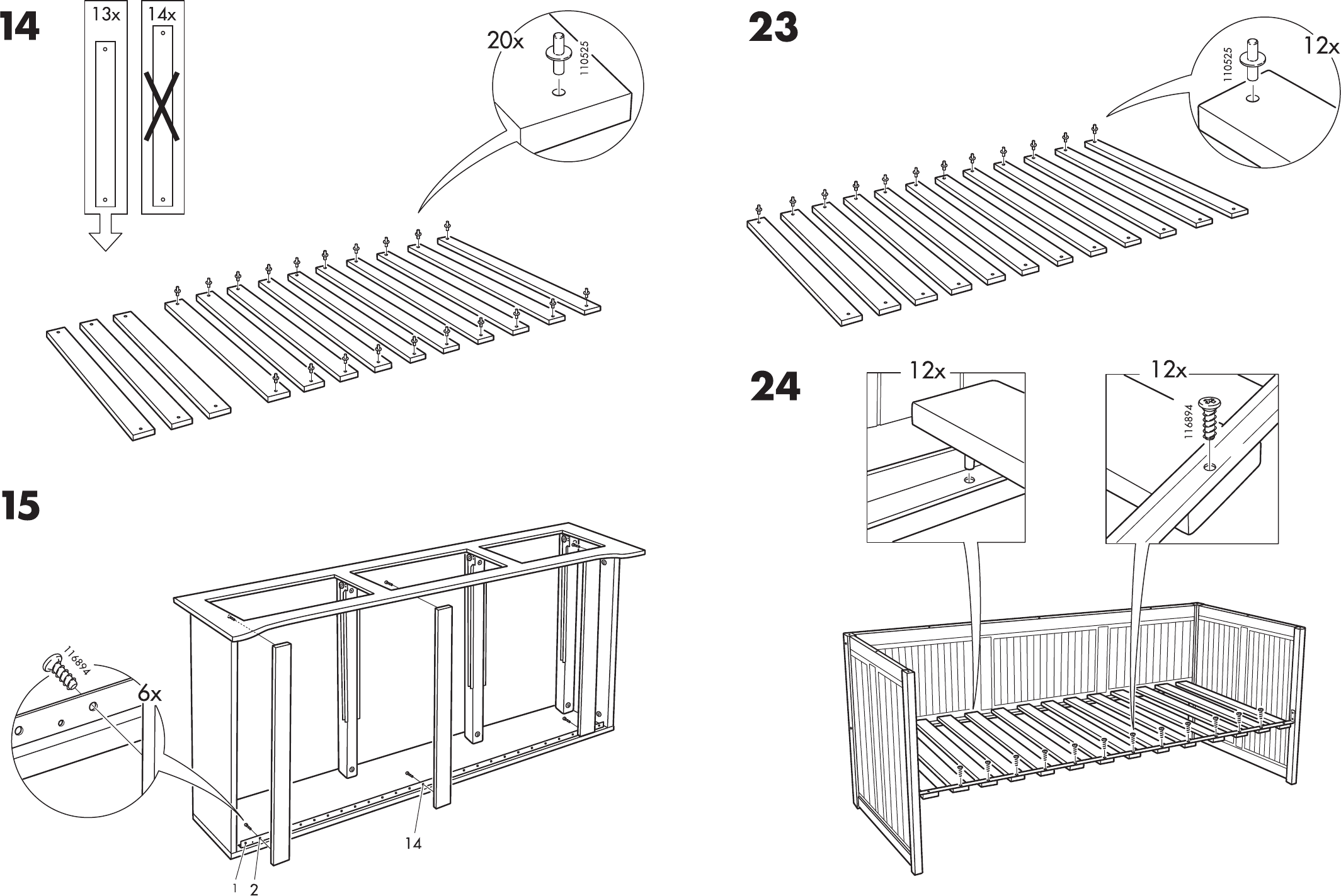 Ikea Hemnes Bedbank.Handleiding Ikea Hemnes Bedbank Pagina 11 Van 12 Dansk Deutsch
