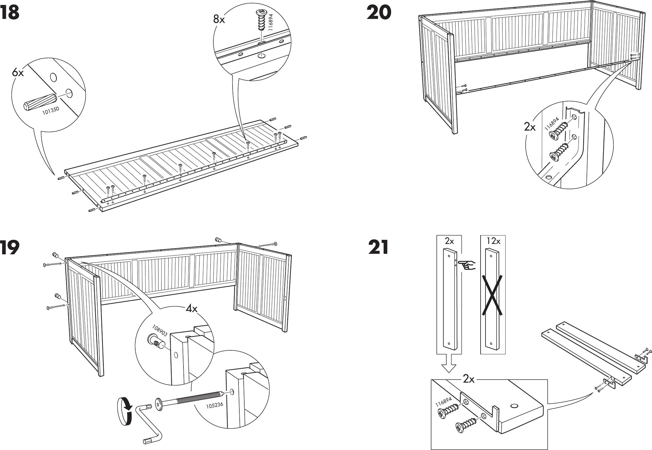 Hemnes Bedbank Met 3 Lades.Handleiding Ikea Hemnes Bedbank Pagina 10 Van 12 Dansk Deutsch