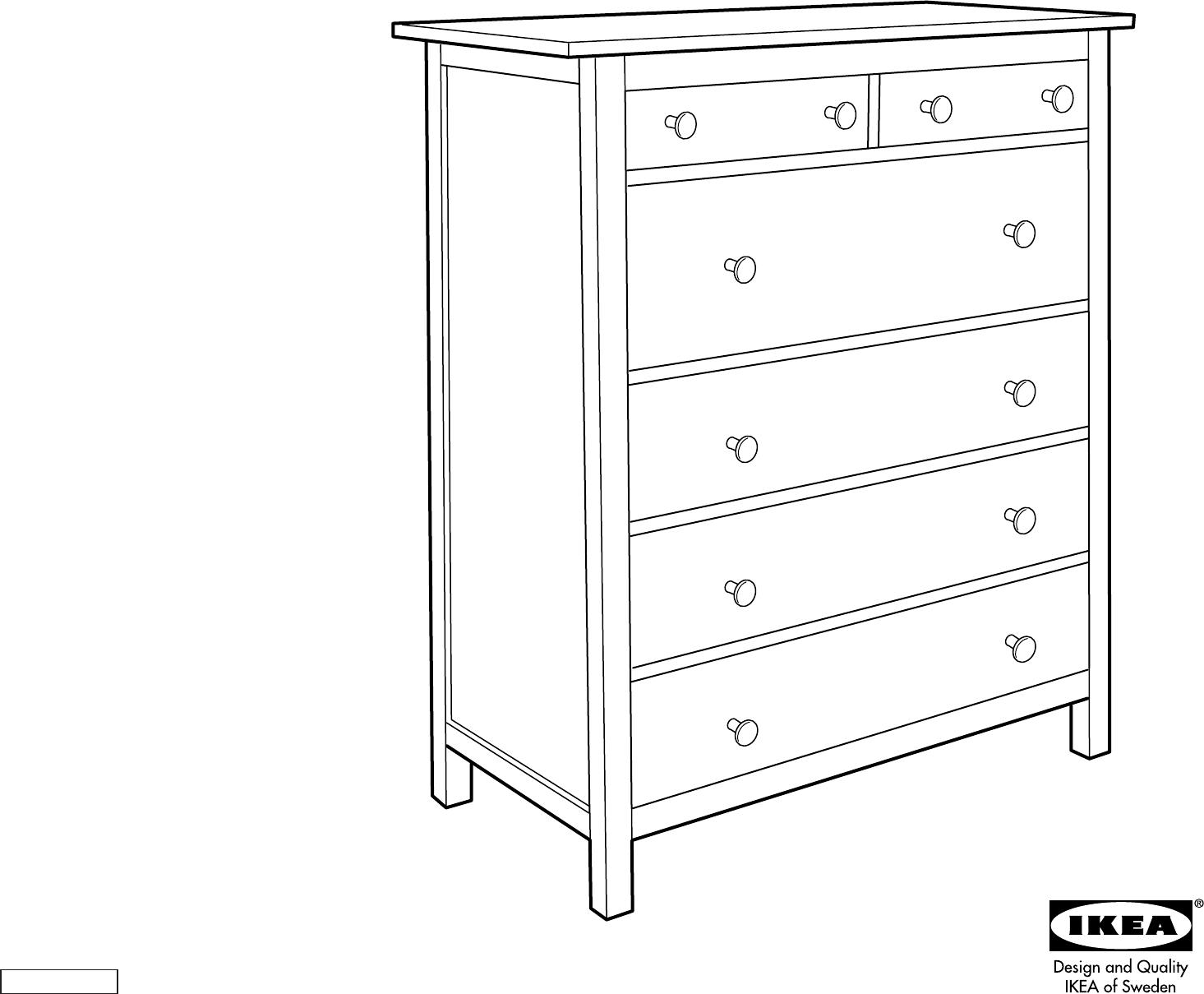 Handleiding Ikea Hemnes Ladekast 6 Pagina 1 Van 12 Dansk