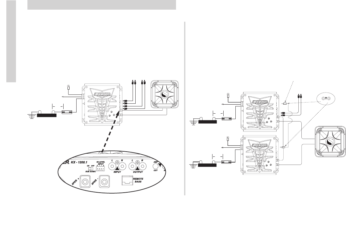 Handleiding Kicker Kx 1200 1 Pagina 6 Van 12 English Wiring Diagram Besides 2 Ohm Subwoofer On Comp Accessories And