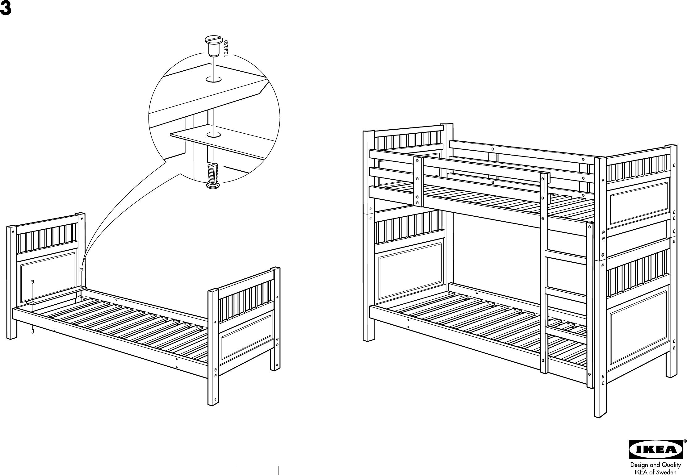 Slaapkamer Hemnes : Stapelbed IKEA