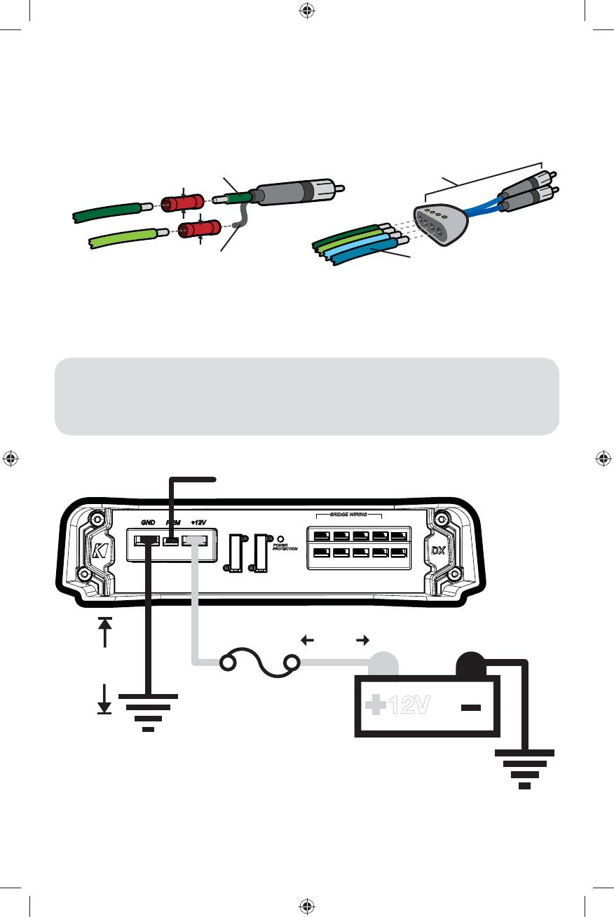 Handleiding Kicker Dx 6005 Pagina 6 Van 28 Deutsch English Speaker Wiring Diagrams 2 Dual 4 Ohm Sub To A Mono Lfe 3