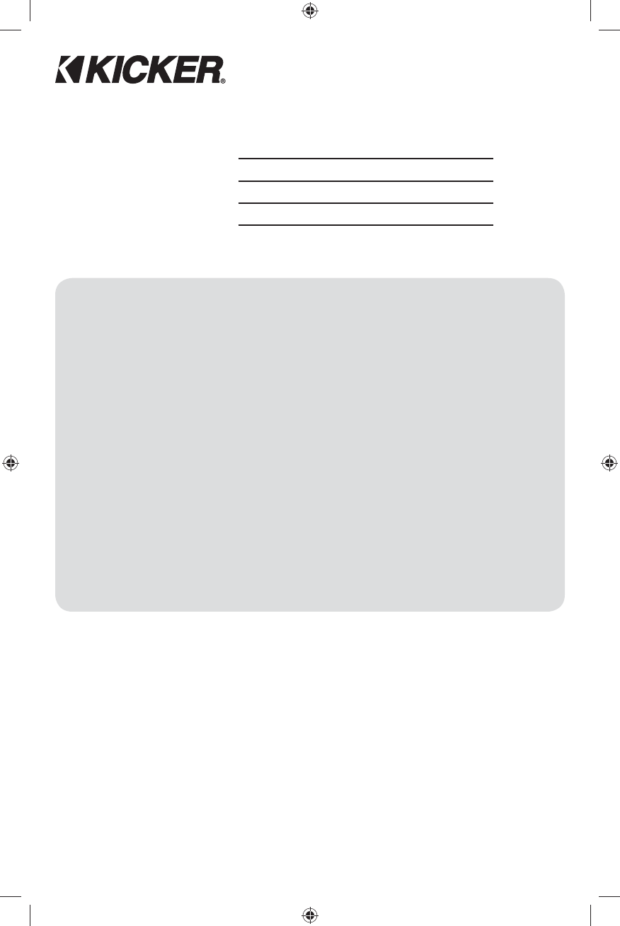 Handleiding Kicker Cx12001 Pagina 6 Van 28 Deutsch English Cx1200 1 Wiring Diagram 8