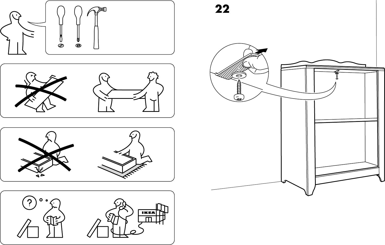 Handleiding Ikea Hensvik boekenkast (pagina 1 van 12) (Dansk ...