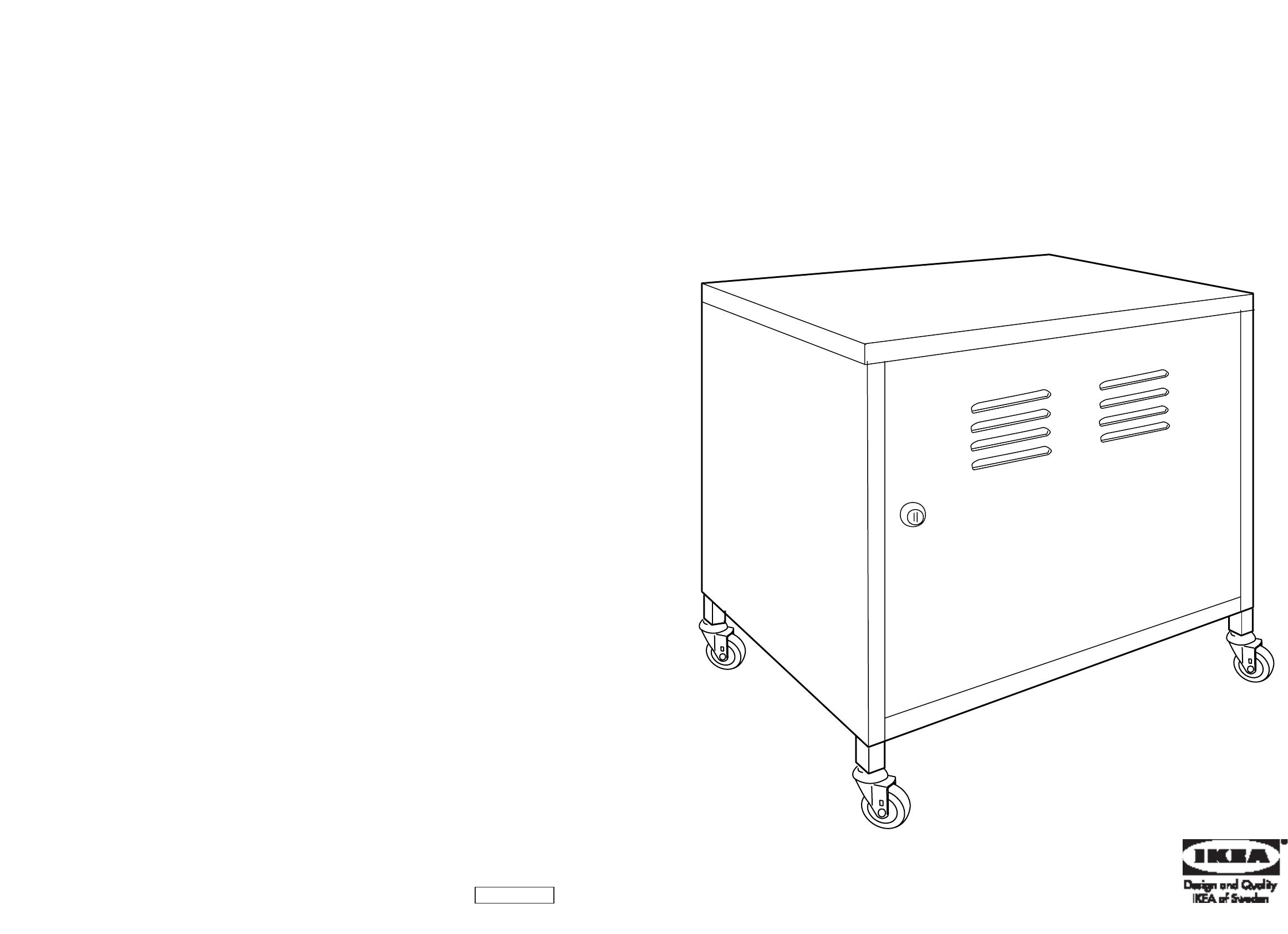 Handleiding Ikea Ps Kast Op Wielen Pagina 1 Van 6 Dansk