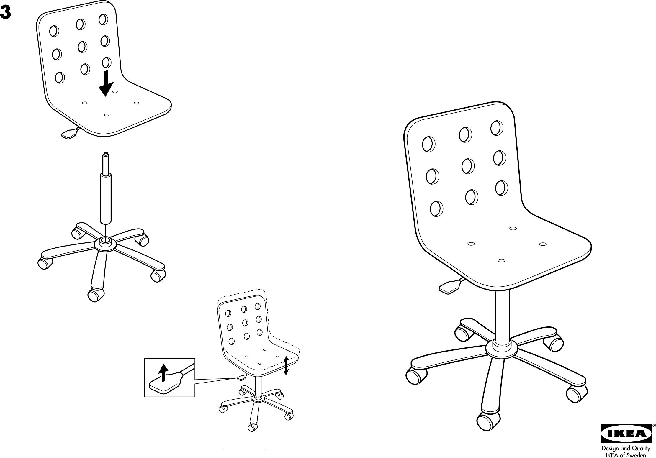 Handleiding Ikea Jules Bureaustoel Pagina 1 Van 2 Dansk Deutsch